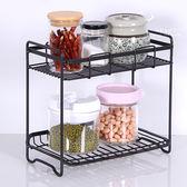 簡約線條廚房收納置物架 置物架 鐵架 調味料架 收納架 置物架