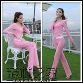 春季新款三件套瑜伽顯瘦女生時尚背后運動服健身服套裝