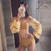 【新年鉅惠】連體游泳衣小胸聚攏遮肚泉比基尼泳衣女