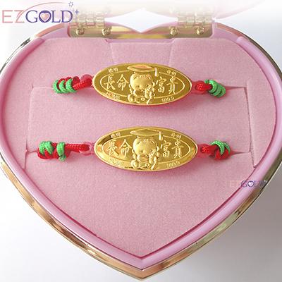EZGOLD-博士天使-彌月金飾音樂禮盒 (0.20錢)