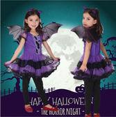 【萬聖節】萬圣節服裝 兒童萬聖節服裝 演出服蝙蝠女孩表演