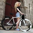 百士盾死飛自行車男單車活飛公路賽倒剎實心熒光整車成人女式學生QM『櫻花小屋』