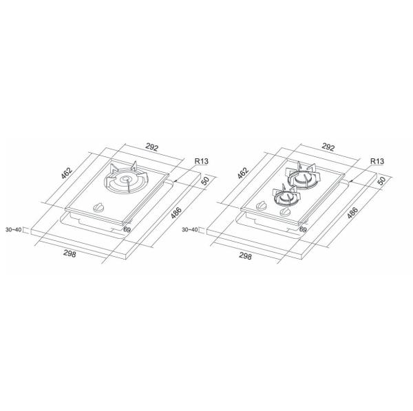 [家事達] 豪山牌SB-1020  單口併爐-瓦斯爐 特價