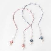 韓版女童甜美假耳環發箍珍珠流蘇頭箍發帶發卡子兒童發飾頭飾品