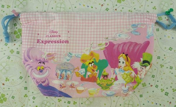 【震撼精品百貨】Disney 迪士尼公主系列~愛麗絲束口袋-下午茶圖案