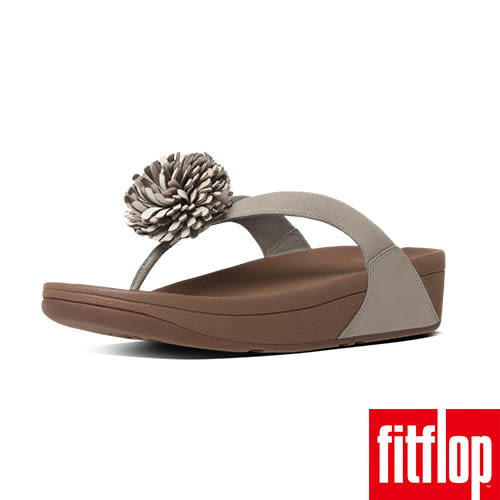 FitFlop TM-FLOWERBALL LEATHER TOE-POST-裸膚色