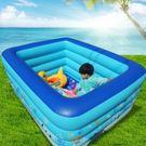 充氣泳池 兒童充氣游泳池寶寶家用海洋球小孩嬰兒戲水池加厚 特厚3.05米3層 豪華禮包jy