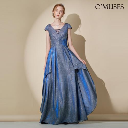 OMUSES 訂製款藍色長禮服
