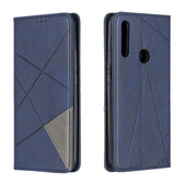 華為 Y9 prime 2019 菱格 保護套 手機殼 自動吸附 錢包款 全包 防摔 軟殼 插卡 磁扣 皮套 手機套