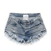 OneTeaspoon 牛仔短褲 破褲 BRANDOS-藍(女)
