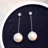 耳環 玫瑰金純銀珍珠-簡約精美生日情人節禮物女飾品2色73ca120【時尚巴黎】
