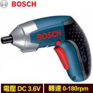 BOSCH 充電式鋰電起子機 IXO 3.6V