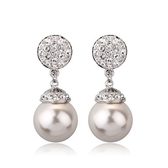 耳環 玫瑰金 925純銀鑲鑽-華麗耀眼生日情人節禮物女飾品2色73gs73【時尚巴黎】