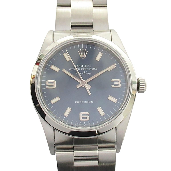 ROLEX 勞力士 藍色面盤不銹鋼腕錶 Oyster Perpetual Air King Watch 14000 BRAND OFF