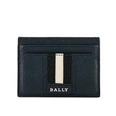 【BALLY】Thar 防刮牛皮黑白條紋卡片/名片夾(深藍色) 6218033 17