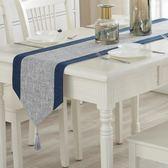 現代簡約桌旗中式禪意桌巾北歐茶桌布藝棉麻餐桌裝飾布床旗中國風 歐韓時代