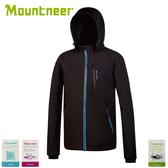 【Mountneer 山林 男輕量防風SOFT SHELL外套《黑》】32J05//防風外套/保暖外套/夾克