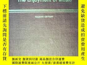 二手書博民逛書店The罕見Enjoyment of music(音樂的欣賞)99