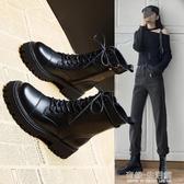 馬丁靴子女英倫風年新款加絨女鞋秋冬鞋子百搭秋鞋短靴女 雙十一全館免運