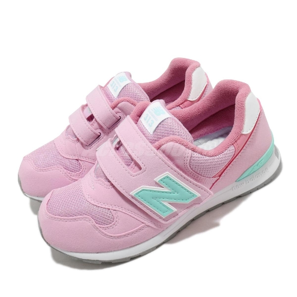 New Balance 慢跑鞋 NB 313 Wide 寬楦 粉紅 綠 童鞋 中童鞋 運動鞋 【ACS】 PO313PPW