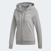【雙12現貨折後$1980】Adidas Essentials SOLID HOODIE 女款 灰色 舒適 透氣 連帽 長袖 外套 DU0664