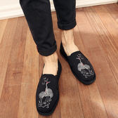 老北京男款布鞋 舒適透氣民族風千層底布鞋一腳蹬休閒單鞋