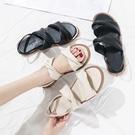 夏季涼鞋防滑平底鞋女平底氣質 樂淘淘