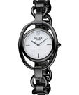 VOGUE Tornabuoni 馬銜鍊手鍊錶-天然珍珠貝xIP黑 2V1407-141D-M