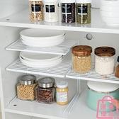 碗架收納架廚房柜子分層櫥柜分隔板置物架【匯美優品】