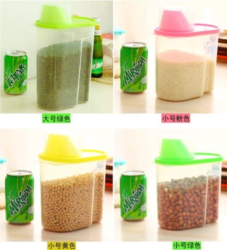 [協貿國際]  廚房特加大有蓋密封罐食品收納罐 (3個價)