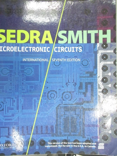 【書寶二手書T1/大學理工醫_QDC】Microelectronic Circuits7/e_Professor Emeritus