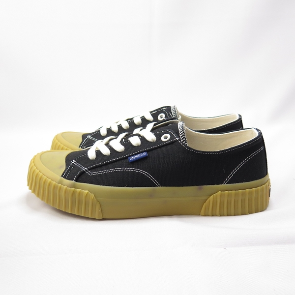 MANIPELLO GUM SOLE-BLK 帆布餅乾鞋 正品 FLMPAA1U12 男女款 黑色【iSport愛運動】