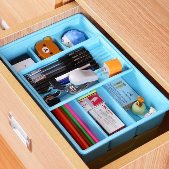 ✭米菈生活館✭【F76】雙層抽屜收納盒 小物 文具 化妝品 工具 材料 分類 DIY 辦公室 餐具 桌面
