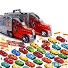 兒童大貨柜車仿真運輸車小汽車模型各類車套裝合金車男孩玩具車HX82【極致男人】