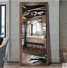 促銷 美式穿衣鏡壁掛全身鏡落地鏡試衣鏡復古歐式家用貼牆輕奢鏡子掛牆