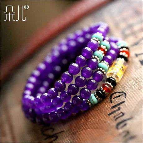 紫玉髓108顆佛珠手鏈
