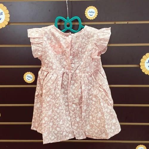 ☆棒棒糖童裝☆(28800)夏女童棉麻小花花立體星星小洋裝 5-15