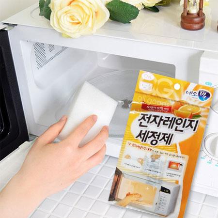 韓國 LIVING GOOD 柑橘微波爐清潔組 海綿 清潔劑 清潔 廚房 微波爐 烤箱 水波爐