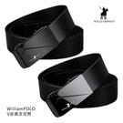 【愛瘋潮】WilliamPOLO V 紋真皮皮帶 自動扣設計,配戴舒適 115CM