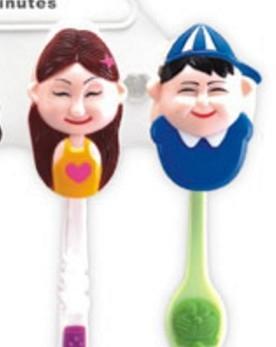 【協貿國際】幸福一家人牙刷架