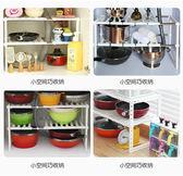 廚房置物功能落地的可伸縮帶隔板水槽瀝不鏽鋼置物架