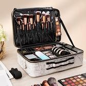 化妝箱 化妝包女量便2020新款超火ins風意式極簡高級感大容量旅行收納箱