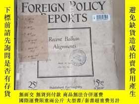 二手書博民逛書店foreign罕見policy reports . 外交政策報告