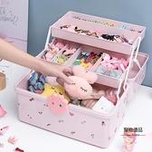 兒童發飾收納盒女童頭飾頭繩飾品首飾盒寶寶發夾皮筋女孩發卡盒子【聚物優品】