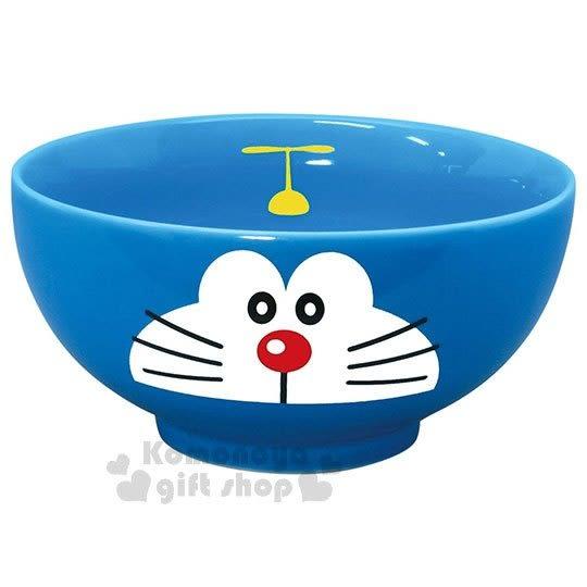 〔小禮堂〕哆啦A夢 日製陶瓷碗《藍.大臉》飯碗.精緻盒裝.日本金正陶器 4964412-00960