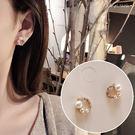 銀針耳環《可改耳夾式》甜美珍珠水鑽圈圈防過敏S925銀針耳針 (SRA0145) AngelNaNa