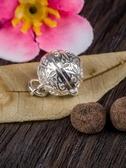 掛件 925純銀鏤空香囊香球小掛墜掛件隨身手鏈