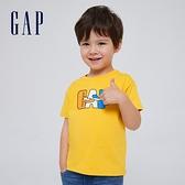 Gap男幼童 Gap x Ken Lo 藝術家聯名系列純棉短袖T恤 854744-金黃色
