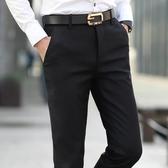 西裝褲夏季黑色直筒西裝褲男褲修身小腳西褲男士商務休閒褲男褲子