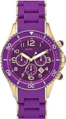 【Marc By Marc Jacobs】時尚三眼中性手錶 (MBM2549) 紫色/淡金色